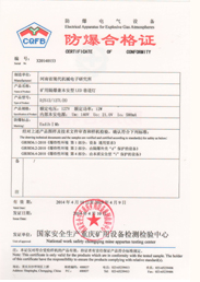 12 W Explosion-Proof Certificate